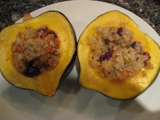 Baked Acorn Squash with Red Quinoa and Pumpkin Seed Stuffing   Marisa ...