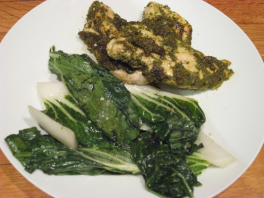 chicken - herbs greens