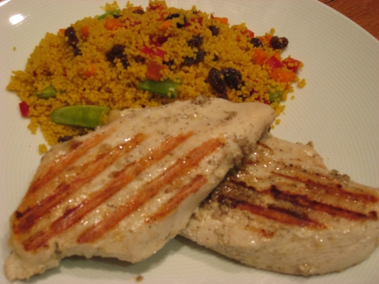 cous cous and chicken
