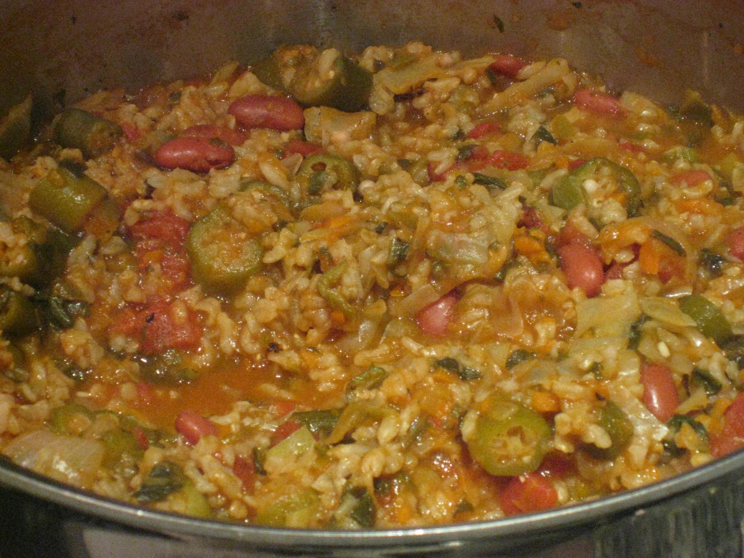 Spicy Vegan Gumbo | Marisa's Healthy Kitchen
