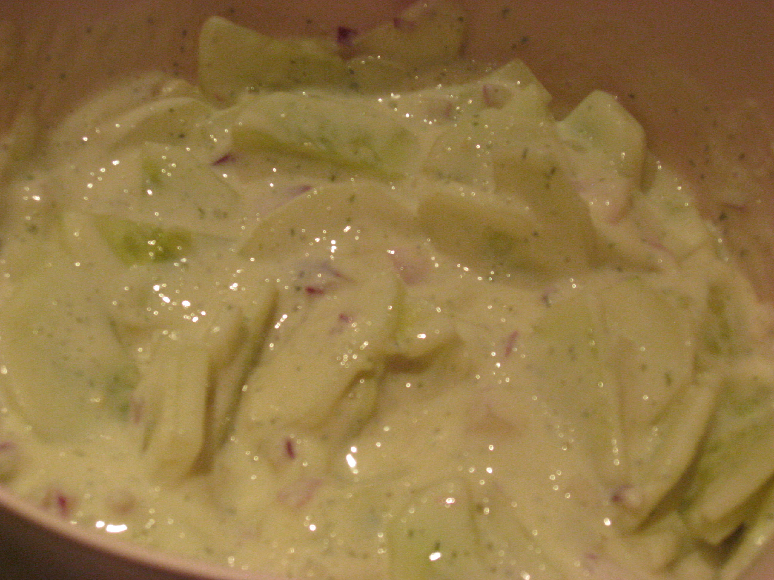 Cucumbers with Creamy Dill Dressing | Marisa's Healthy Kitchen