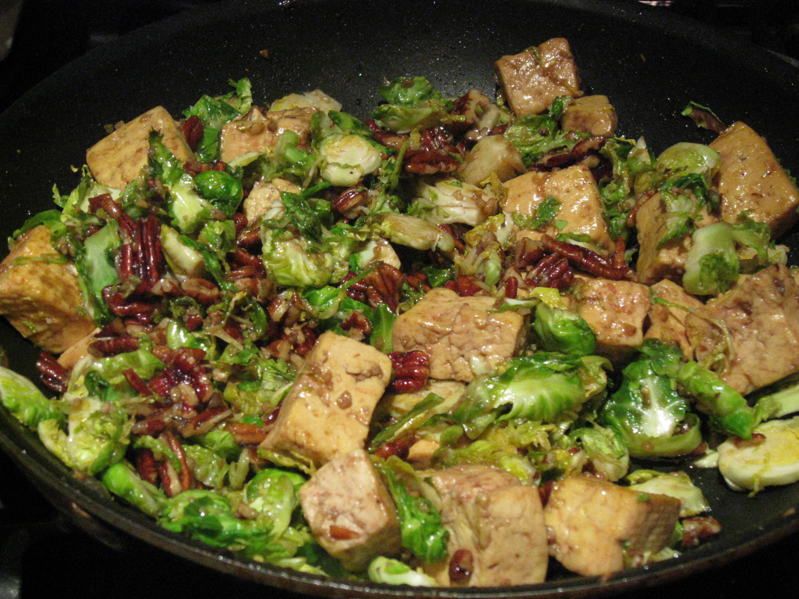 ... tofu tofu with brussels sprouts caramelized tofu and brussel