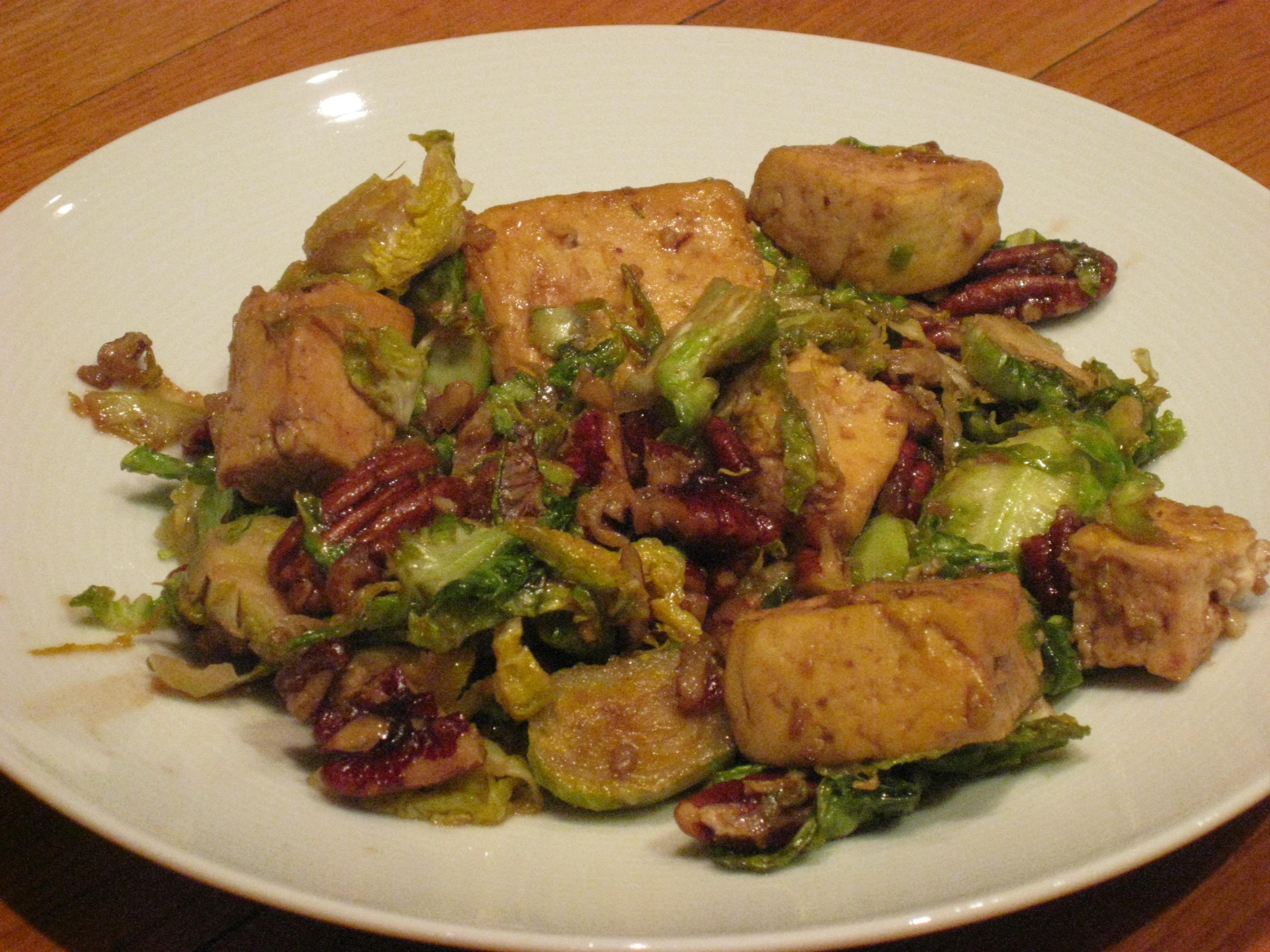 ... caramelized tofu pecans caramelized tofu tofu with brussels sprouts