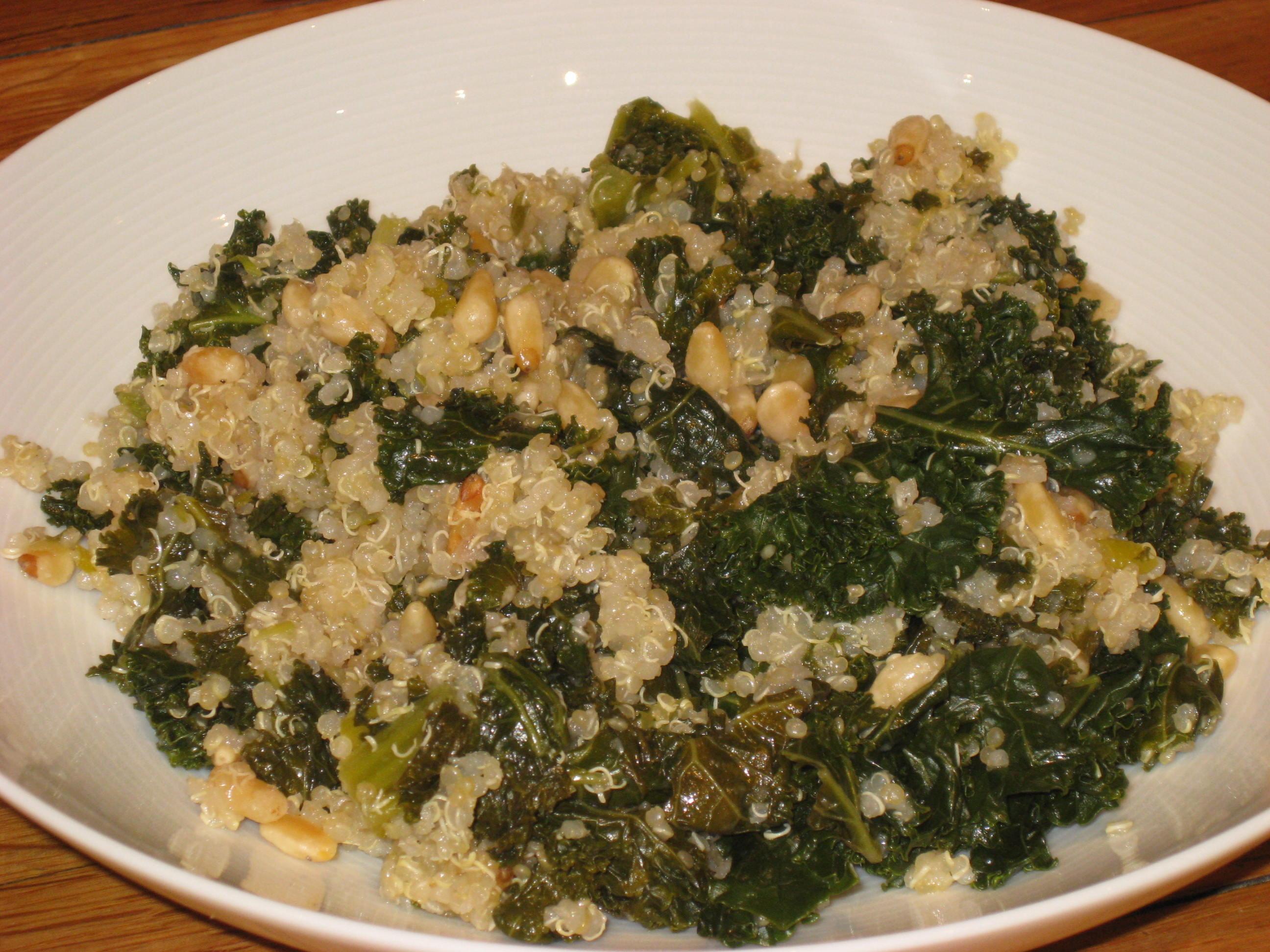 One Pot Kale And Quinoa Pilaf Recipe — Dishmaps